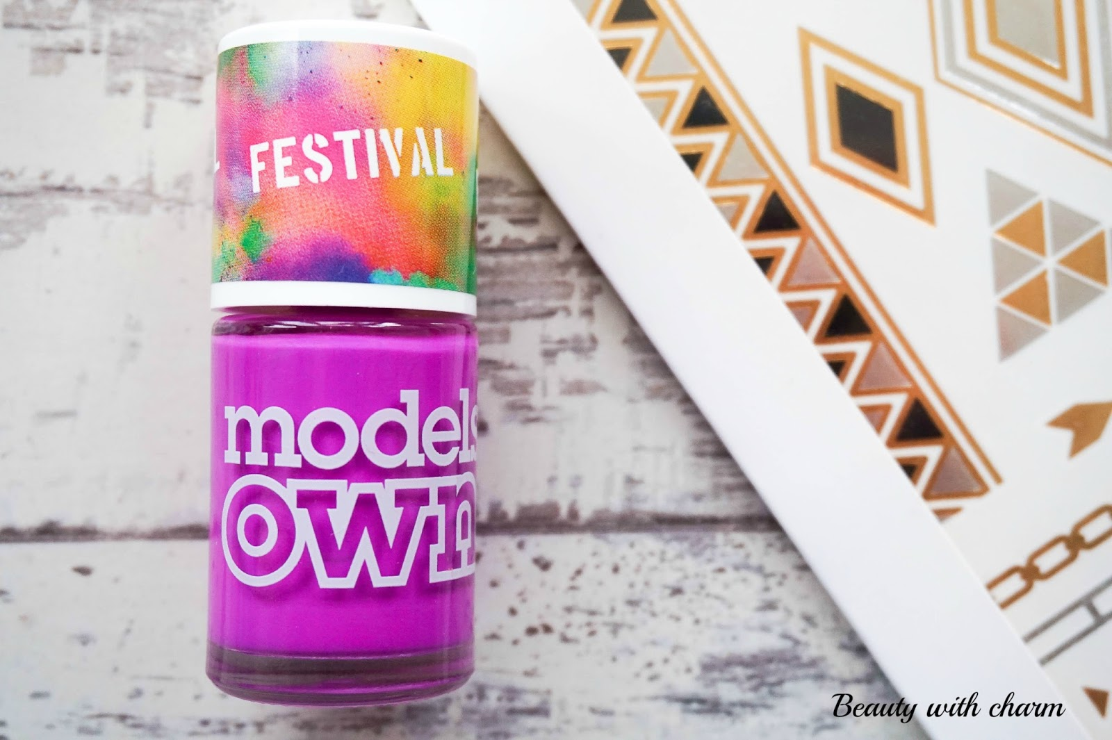 Model's Own, Festival range, Colour Chrome Body Tattoos, Nail Polish, Purple Bandana