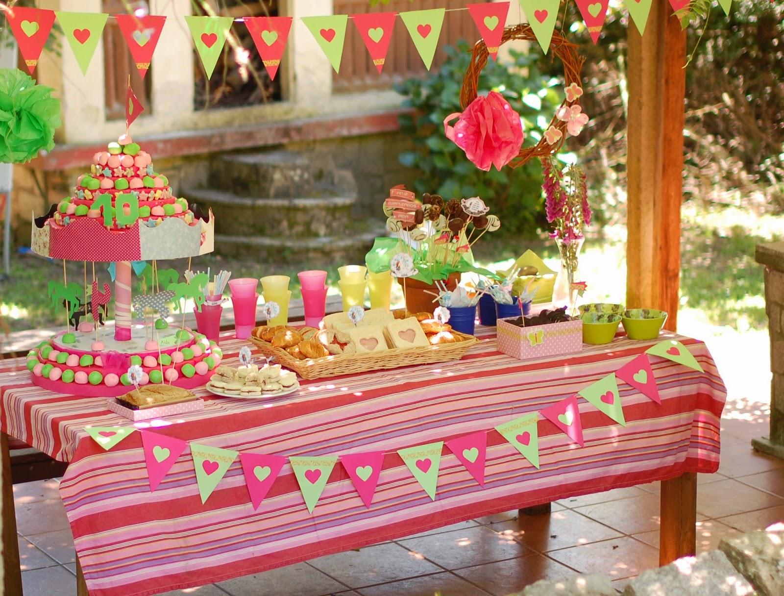 So sunny cumplea os verde y rosa ganas de primavera - Decoracion fiesta rosa ...