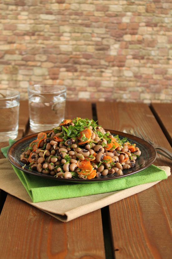 Black-eyed-pea-caramelized-carrot-salad