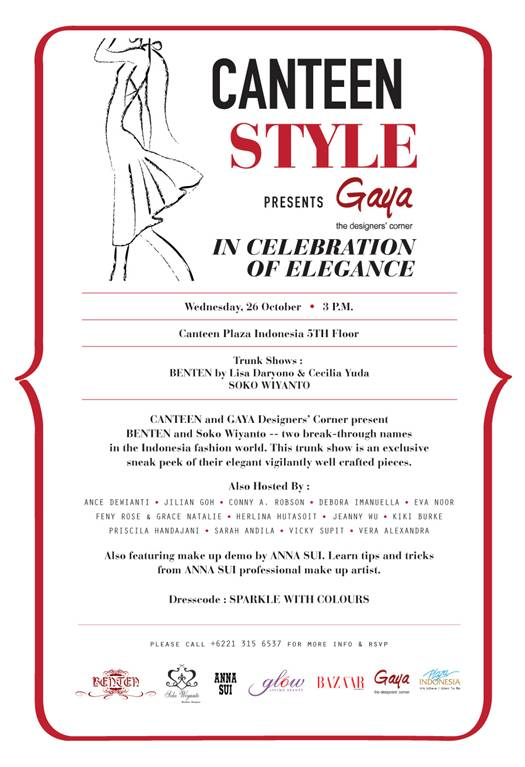 Jakarta fashion week canteen style invitation got the invitation from my friend addo if you looveee fashion you should come you can see the collection from benten and soko wiyanto stopboris Images