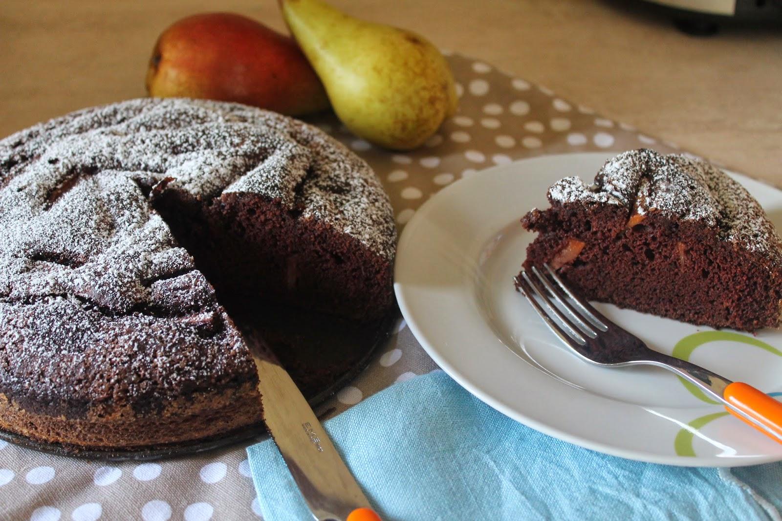 Torta di pere e cacao - gluten free