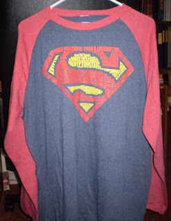 Front of Superman words t-shirt