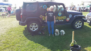 Image: Denny, Dexter, Hugo, Rob and I spent a day at the Bark in the Park Bowmanville Pet Festival