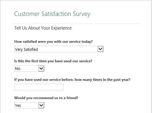 Raj Excel Customer Satisfaction Survey Excel Online Templates - Excel online templates