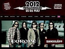 Europe, UDO y Paul Di'Anno al Metallsvenskan Festival 2012