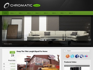 Chromatic Green Blogger Template