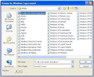 Mengubah sound (suara) windows dengan lagu pilihan sendiri
