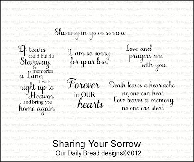 Our Daily Bread designs Sharing Your Sorrow