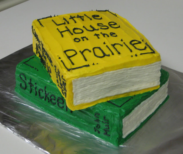 Stack of Books Cake - View 1