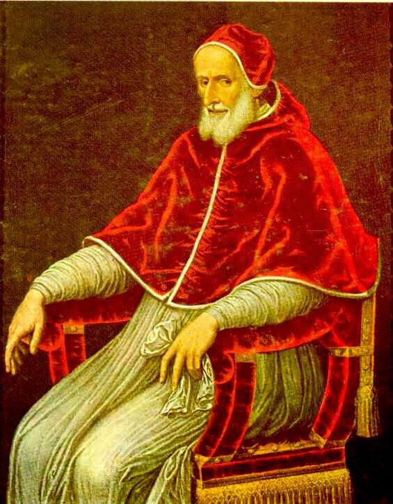 Papa San Pío V de la Iglesia Católica que invoca la intercesión de María Auxiliadora