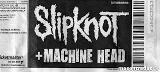 entrada de concierto de slipknot
