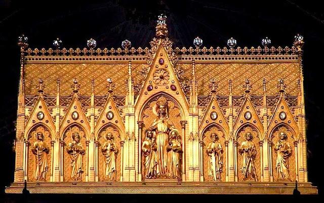 Relicário principal de Santa Valdetrudis, princesa, abadessa e fundadora de Mons, Bélgica