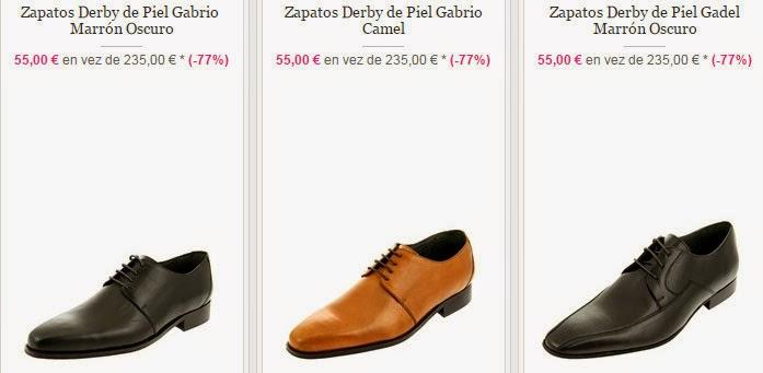 Elegantes zapatos derbies de piel a la venta a un PVP de 55 euros.