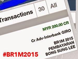 Thumbnail image for Bukti Pembayaran BR1M 2015 Telah Dimasukkan Ke Dalam Akaun Bank
