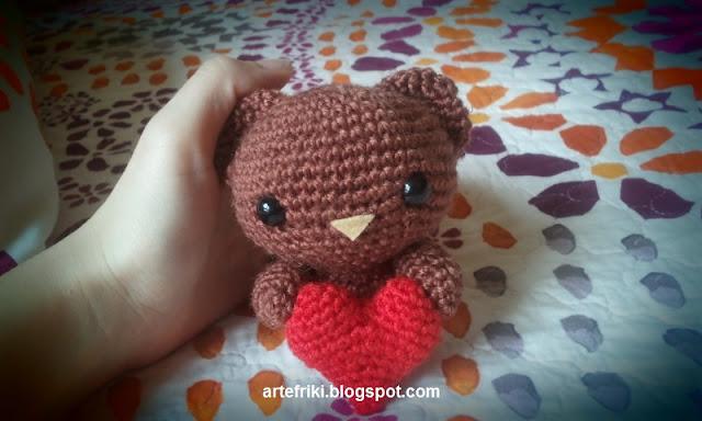 oso amigurumi bear crochet ganchillo muñeco peluche amoroso heart corazón