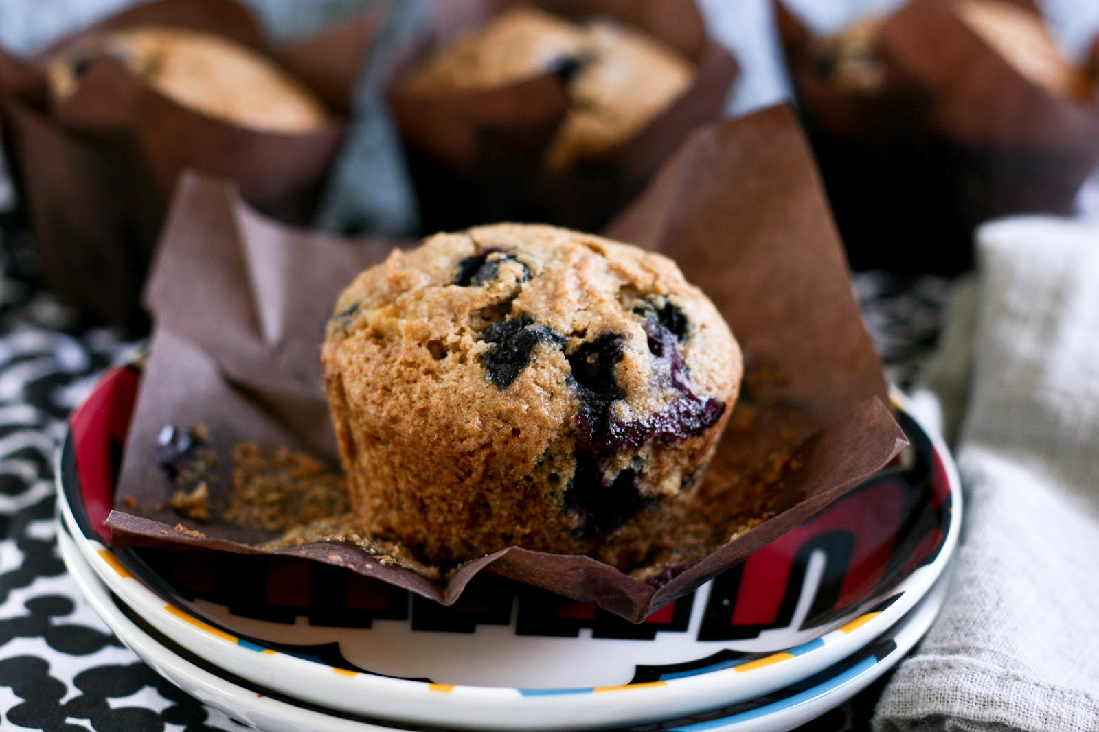 Banana Blueberry Wheat Muffins | Krissy's Creations