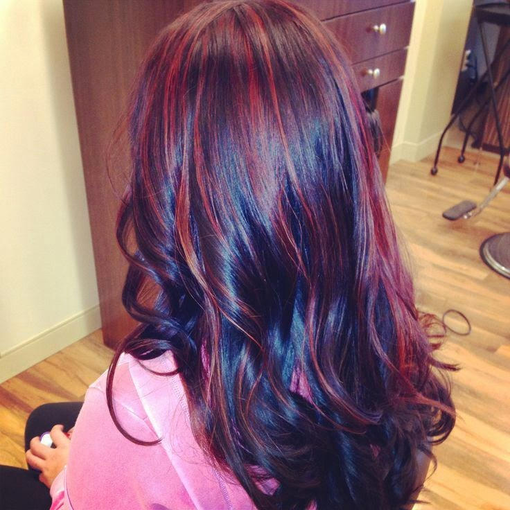 brown red highlights