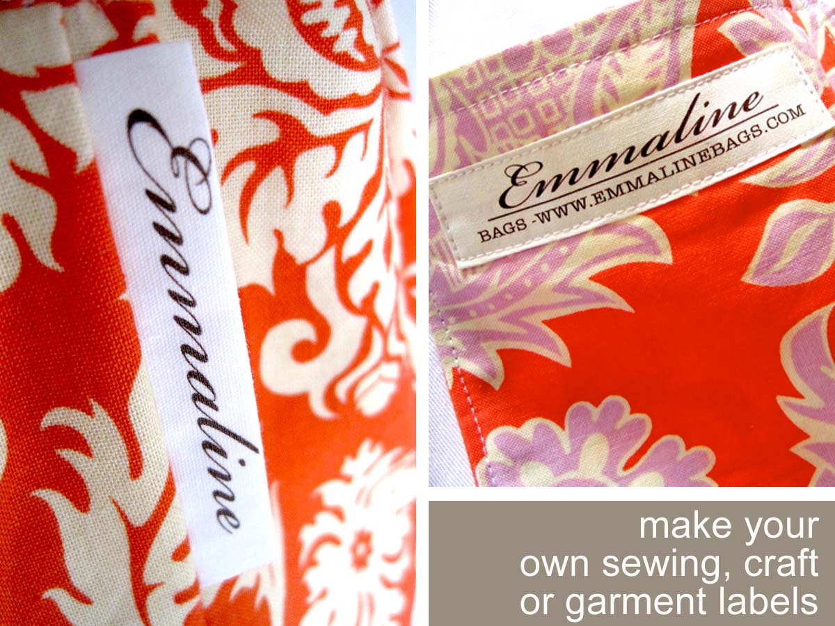 emmaline bags sewing patterns and purse supplies make With fabric craft labels