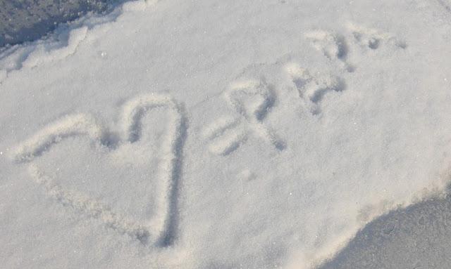Pearl's Harbor Blog: Liebeserklärung im Schnee Love Papa