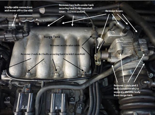 2005 kia amanti intake manifold gasket replacement