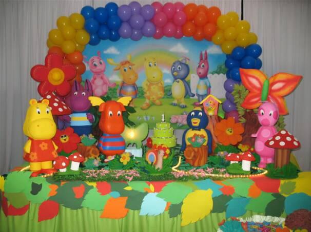 Kalliopelp decoraci n de fiestas infantiles de backyardigans - Imagenes de decoracion de fiestas infantiles ...