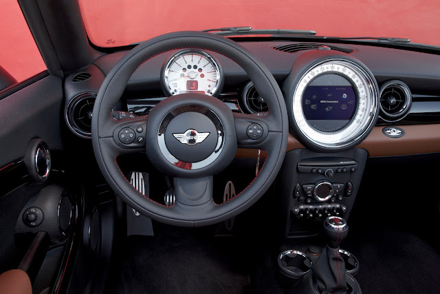 Interior view of the 2013 Mini John Cooper Works Roadster