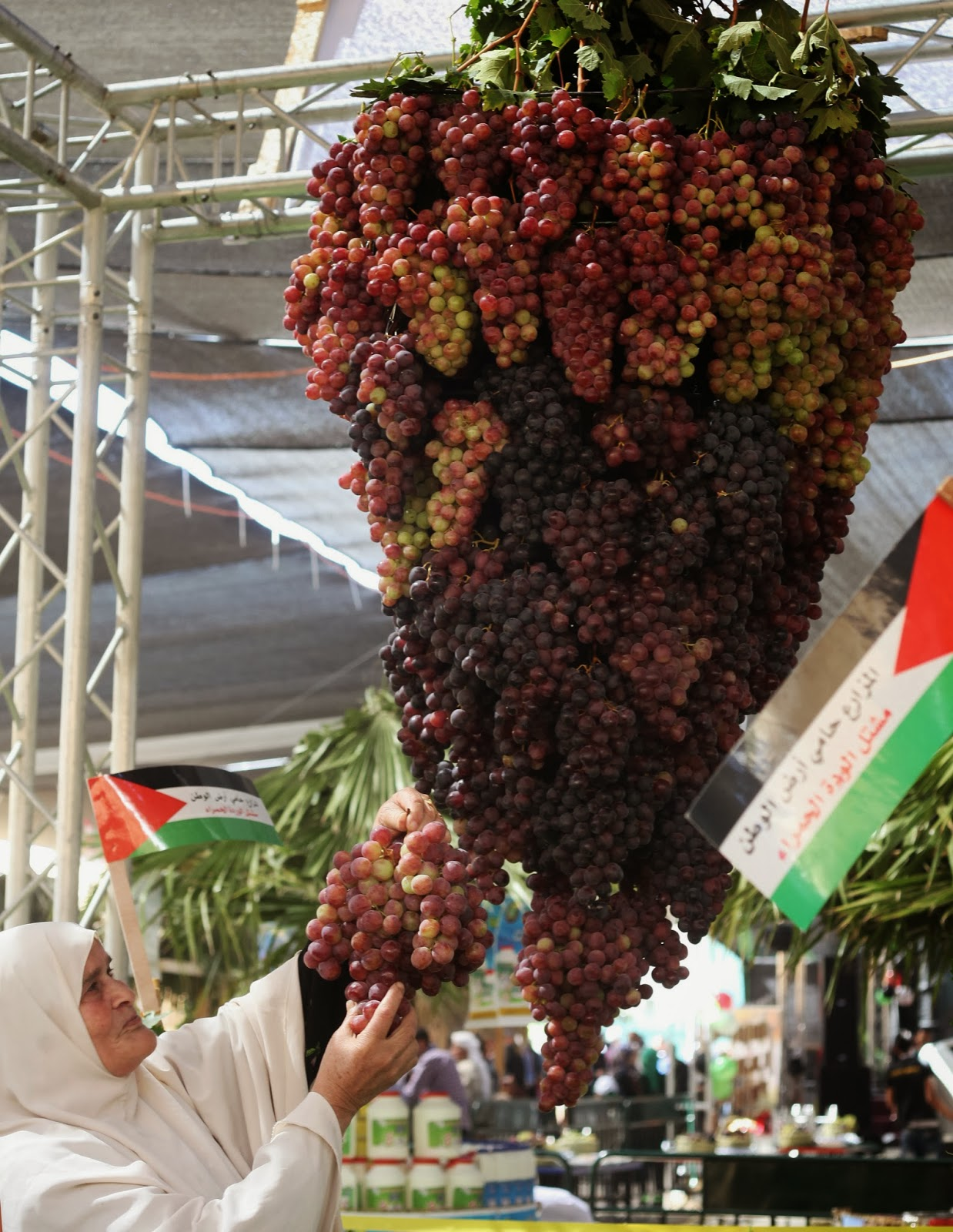 Agriculture, Festival, Fruit, Grapes, Hebron, Palestine, News, Offbeat, Halhul, Exhibition, Trade Show, Business, Economy,