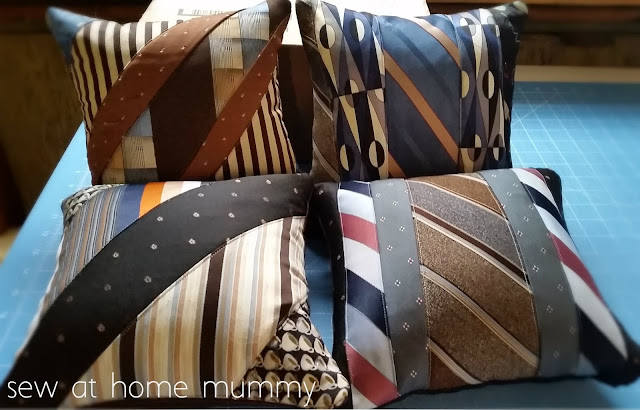 Tie Pillows | Quilted Tie Keepsake Pillows | Tips and Tricks by Sew at Home Mummy