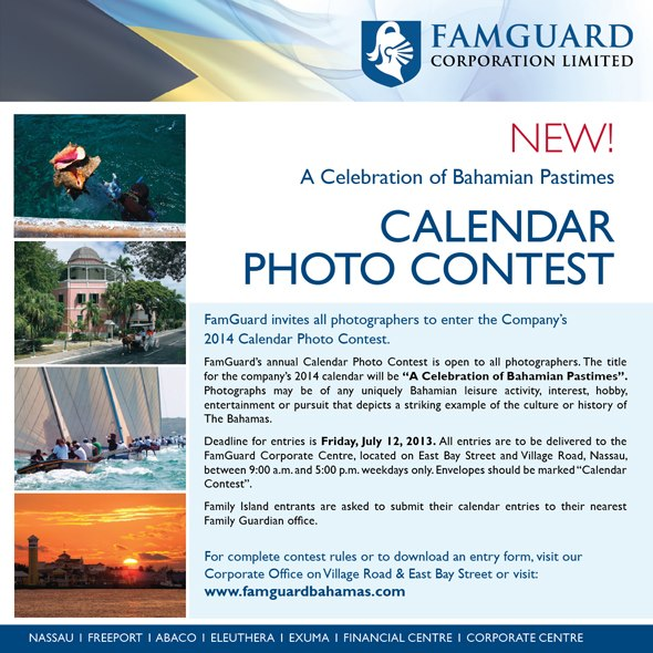 Calendar Photography Contest : Native stew bahamas news famguard photo calendar contest