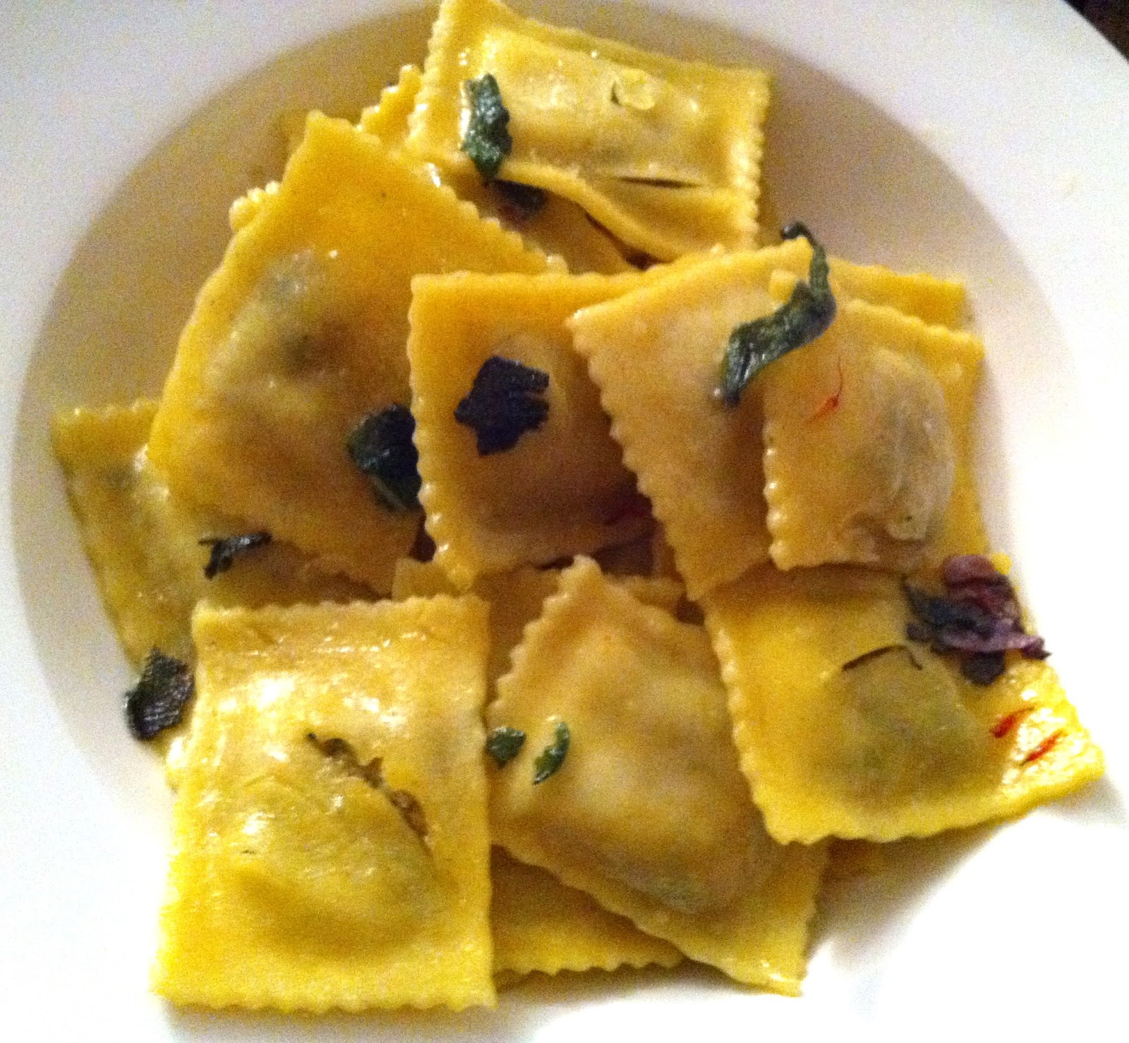 Spinach and Ricotta Ravioli with Brown Butter, Sage ...