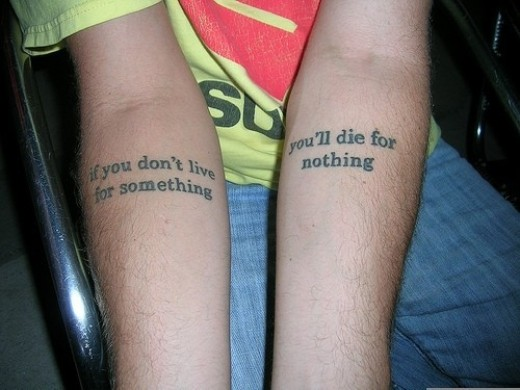 tattoo quotes for life. own quote on life tattoo