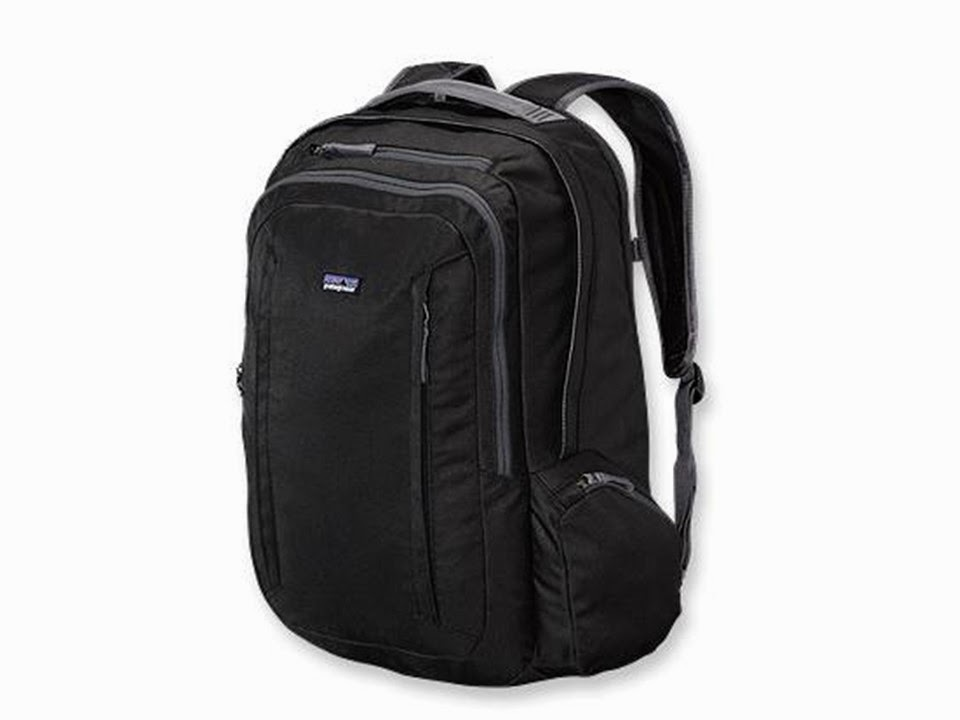 black Patagonia backpack