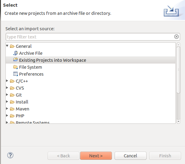 Import Java Project to Eclipse.