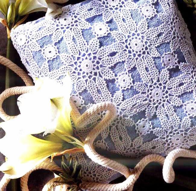almohadon flores de primavera