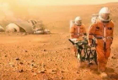 Ilustrasi kehidupan di Mars (CNN)