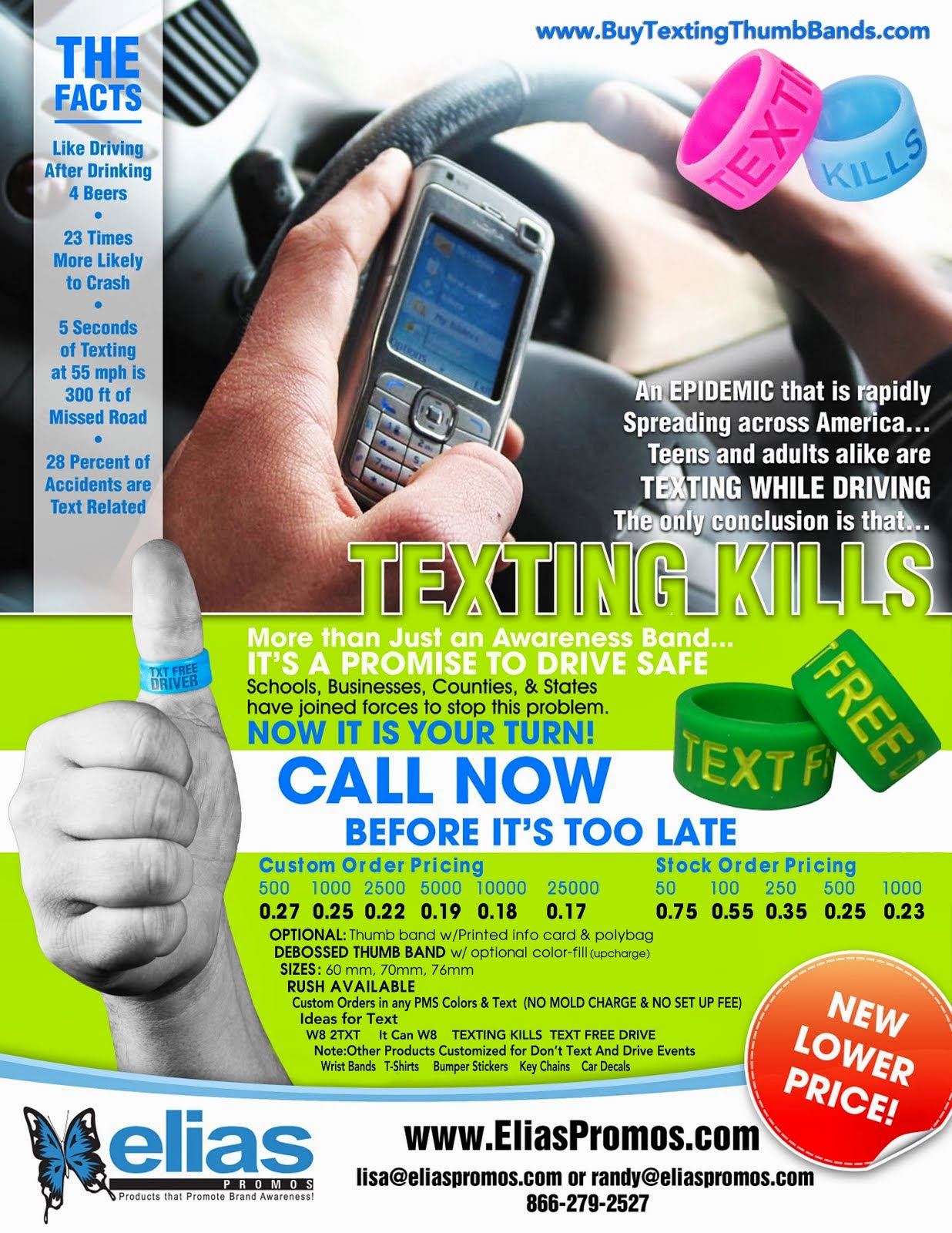 Texting Thumb Bands by EliasPromos