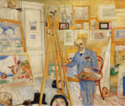 James Ensor (36 años) - The Skeleton Painter (1896)