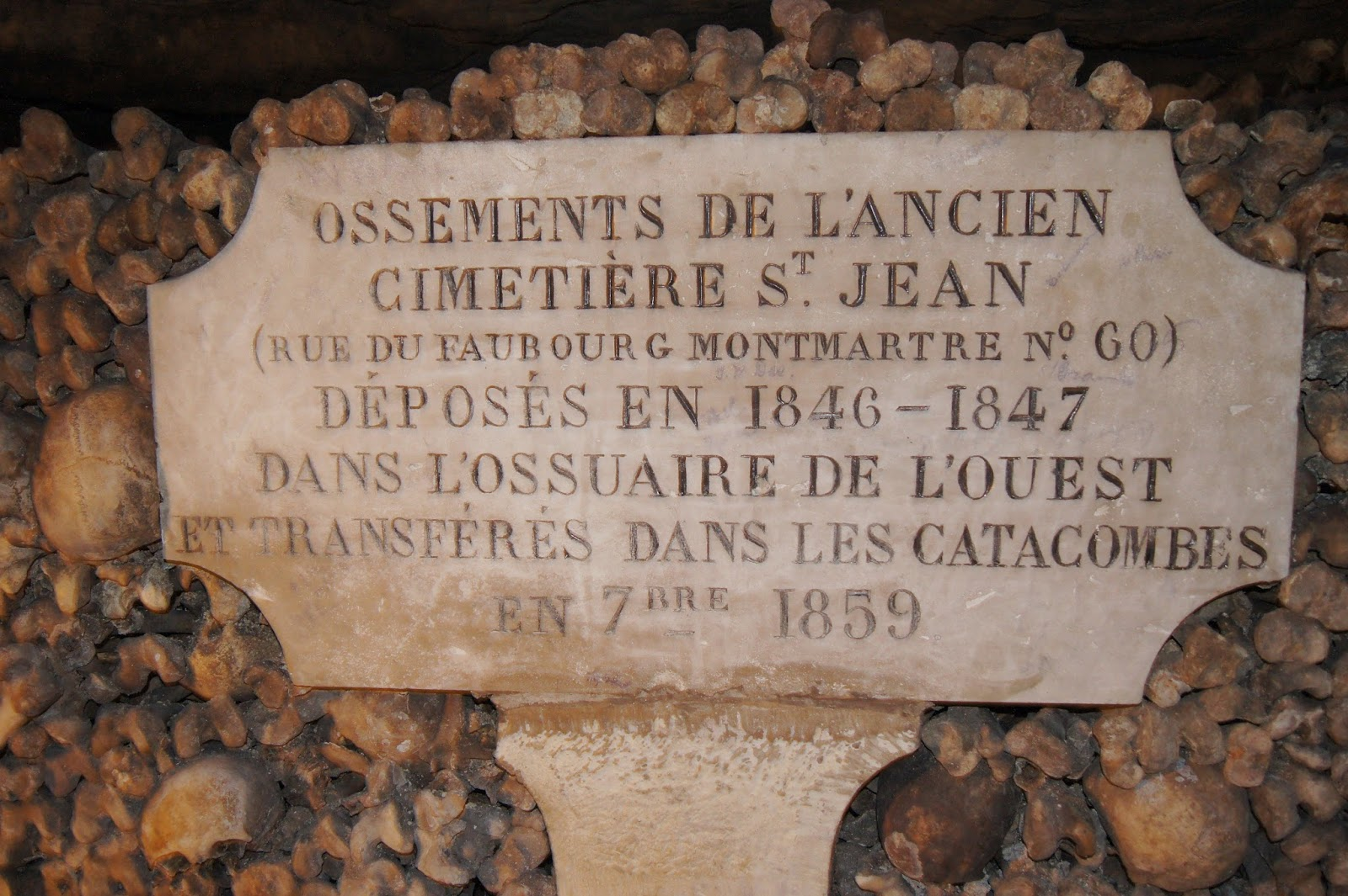 Bones from St. Jean Cemetery-The Catacombs