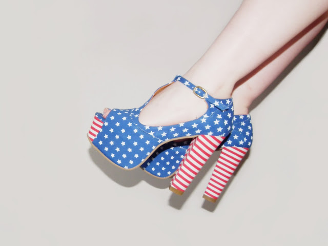 Sammi Jackson - Stars & Stripes, Jeffrey Campbell Foxy US Flag