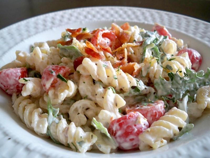 BLT Pasta Salad - Cupcake Diaries