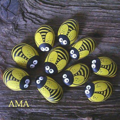Mam s creativas m s piedras pintadas for Piedras pintadas para jardin