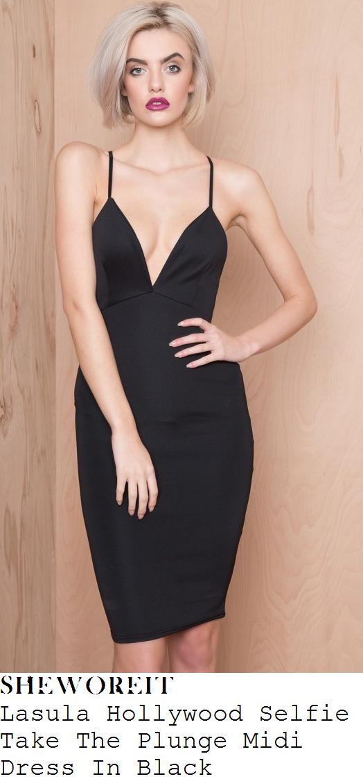 holly-hagan-black-sleeveless-plunge-front-bodycon-midi-dress