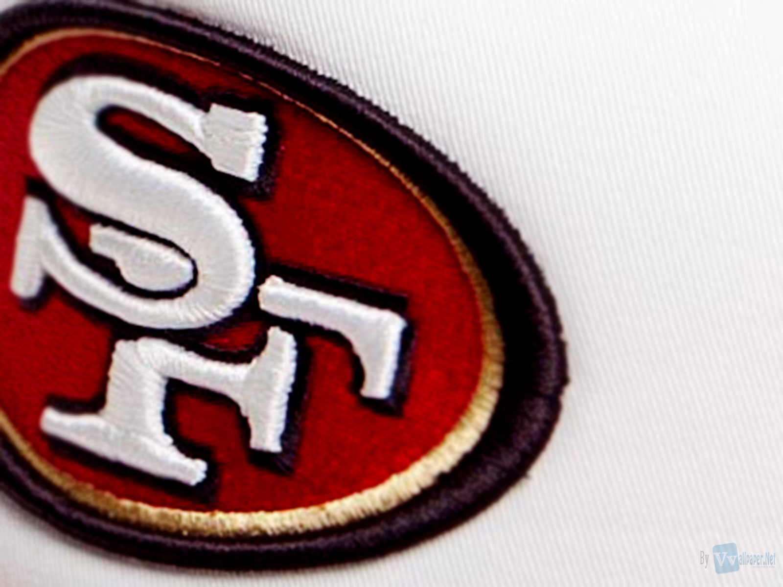 SF 49ers Nfl Team Logo Close Up HD Wallpaper