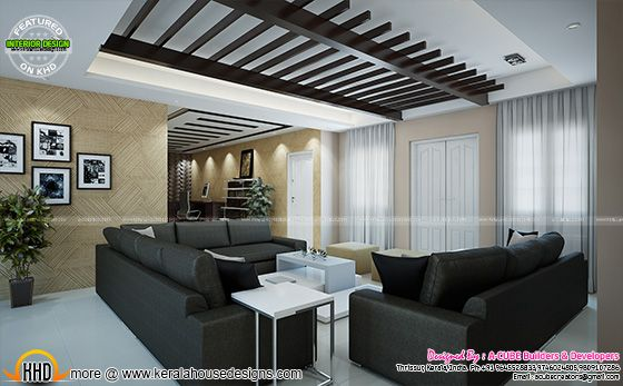 August 2015 kerala home design and floor plans for Living room designs in kerala