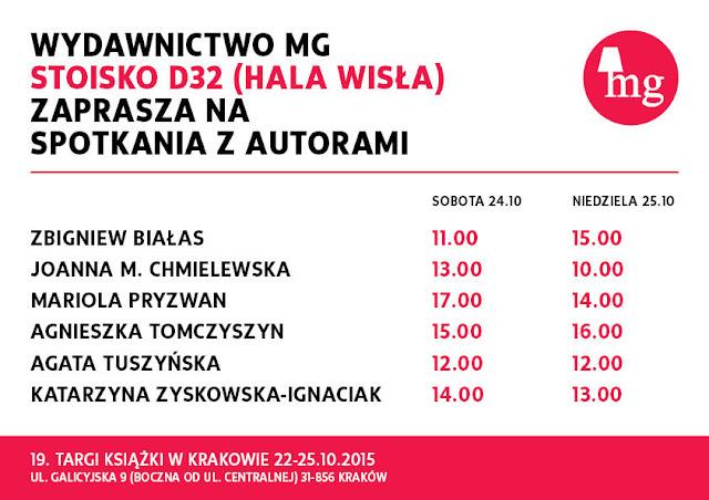MG zaprasza na Targi książki w Krakowie