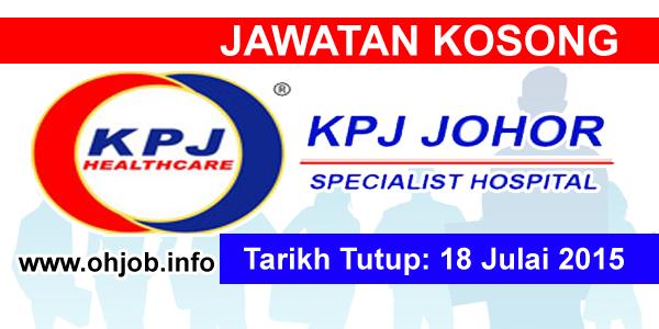 Jawatan Kerja Kosong KPJ Johor Specialist Hospital logo www.ohjob.info julai 2015
