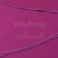 Telekung lycra ungu manggis jahitan karipap di tepi