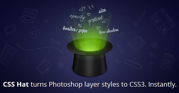 CSS Hat plugin for Photoshop
