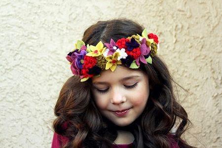 disfraz de hada diy - corona de flores de fieltro