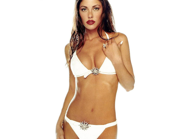 Summer Altice Looking Fit And Trim In A White Bikini